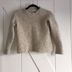 BABATON Cropped Alpaca & Merino Wool Sweater